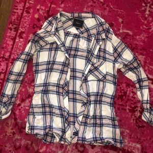 Rails pink and blue plaid shirt size M